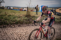 Belgian National Champion Laurens Sweeck (BEL/Pauwels Sauzen-Bingoal) up the infamous Koppenberg.<br /> <br /> Koppenbergcross 2020 (BEL)<br /> men's race<br /> <br /> ©kramon
