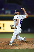 Winston-Salem Dash relief pitcher Sal Biasi (10) in action against the Hickory Crawdads at Truist Stadium on July 10, 2021 in Winston-Salem, North Carolina. (Brian Westerholt/Four Seam Images)