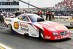 Johnny Gray (31) driver for theService Central DSR FC team makes a qualifying pass during the O'Reilly Auto Parts Spring Nationals at the Royal Purple Raceway in Baytown,Texas.