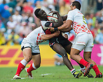 Kenya vs Japan during the HSBC Sevens Wold Series Shield Final match as part of the Cathay Pacific / HSBC Hong Kong Sevens at the Hong Kong Stadium on 29 March 2015 in Hong Kong, China. Photo by Xaume Olleros / Power Sport Images
