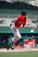Boston Red Sox third baseman Triston Casas (19) follows through on a swing during a Florida Instructional League game against the Baltimore Orioles on September 21, 2018 at JetBlue Park in Fort Myers, Florida.  (Mike Janes/Four Seam Images)