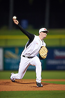 Louisville Cardinals starting pitcher Kade McClure (19) delivers a pitch during a game against the Maryland Terrapins on February 18, 2017 at Spectrum Field in Clearwater, Florida.  Louisville defeated Maryland 10-7.  (Mike Janes/Four Seam Images)