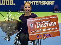 22-12-13,Netherlands, Rotterdam,  Topsportcentrum, Tennis Masters, Wheelchair final, Jiske Griffioen(NED)   wins the Masters<br /> Photo: Henk Koster
