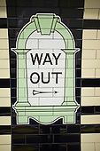 Way Out. Sign at Warren Street tube station, London.