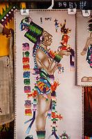 Chichicastenango, Guatemala.  Wall Hanging of a Mayan God