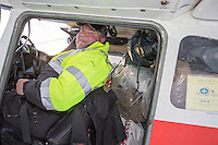 Volunteer Iditarod Air Force pilot, John Norris readies to take a load of supplies to Rainy Pass at the Willow, Alaska airport during the Food Flyout on Saturday, February 20, 2016.  Iditarod 2016