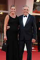 VENICE, ITALY - SEPTEMBER 11: Giulia Rosmarini and Director of the festival Alberto Barbera attend the closing ceremony red carpet during the 78th Venice International Film Festival on September 11, 2021 in Venice, Italy. <br /> CAP/MPI/AF<br /> ©AF/MPI/Capital Pictures