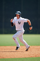 GCL Yankees East Alex Guerrero (8) running the bases during a Gulf Coast League game against the GCL Phillies East on July 31, 2019 at Yankees Minor League Complex in Tampa, Florida.  GCL Yankees East defeated the GCL Phillies East 11-0 in the first game of a doubleheader.  (Mike Janes/Four Seam Images)