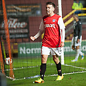 Dundee Utd's Ryan Dow celebrates after he scores their third goal.