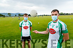 Diarmuid O'Connor and Jack Barry NaGail and Kerry GAA Players are encouraging people to wear facemasks.