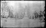 Frederick Stone negative. West Main St. and monument. Undated photo