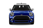 Car photography straight front view of a 2019 MINI Hardtop-4-Door Cooper-Signature 5 Door Hatchback Front View