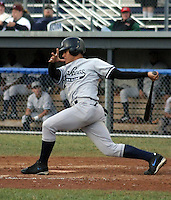 July 11, 2003:  Outfielder Melky Cabrera of the Staten Island Yankees, Class-A affiliate of the New York Yankees, during a NY-Penn League game at Dwyer Stadium in Batavia, NY.  Photo by:  Mike Janes/Four Seam Images