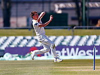 Matt Milnes bowls for Kent during Kent CCC vs Lancashire CCC, LV Insurance County Championship Group 3 Cricket at The Spitfire Ground on 23rd April 2021