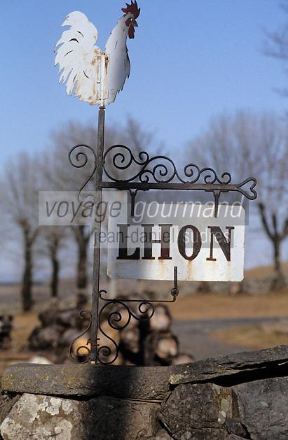 Europe/France/Auvergne/12/Aveyron/Laguiole: Entrée d'une ferme - Détail girouette