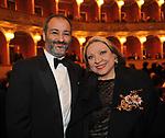 """CARLO SPALLINO CENTONZE  E MARIA GIOVANNA MAGLIE<br /> PRIMA DE """"LA TRAVIATA"""" TEATRO DELL'OPERA DI ROMA 2009"""