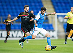St Johnstone v Partick Thistle…08.08.17… McDiarmid Park.. Betfred Cup<br />Richie Foster and Steven Lawless<br />Picture by Graeme Hart.<br />Copyright Perthshire Picture Agency<br />Tel: 01738 623350  Mobile: 07990 594431