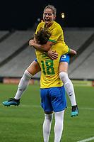 São Paulo (SP), 12/12/2019 - Brasil-México - Maria Eduarda, do Brasil comemora seu gol em partida amistosa contra o México, amistoso da Seleção Brasileira Feminina contra a Seleção do México, na Arena Corinthians, em São Paulo (SP), nesta quinta-feira (12).