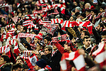 Fans of Athletic Club cheer on their team during their Copa del Rey Round of 16 first leg match between Athletic Club and FC Barcelona at San Mames Stadium on 05 January 2017 in Bilbao, Spain. Photo by Victor Fraile / Power Sport Images