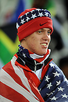 A USA fan. USA defeated Spain 2-0 during the semi-finals of the FIFA Confederations Cup at Free State Stadium in Manguang/Bloemfontein, South Africa on June 24, 2009..