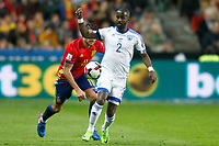 Spain's Vitolo (l) and Israel's Eli Dasa during FIFA World Cup 2018 Qualifying Round match. March 24,2017.(ALTERPHOTOS/Acero) /NortePhoto.com