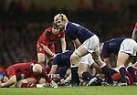 Scotland lock Richie Gray fills in at scrum half.<br /> RBS 6 Nations 2014<br /> Wales v Scotland<br /> Millennium Stadium<br /> <br /> 15.03.14<br /> <br /> ©Steve Pope-SPORTINGWALES
