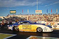 May 31, 2013; Englishtown, NJ, USA: NHRA pro stock driver Rodger Brogdon during qualifying for the Summer Nationals at Raceway Park. Mandatory Credit: Mark J. Rebilas-