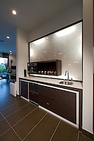Stock photo of ultra modern residential kitchen's coffee bar