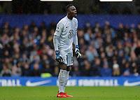 2nd October 2021; Stamford Bridge, Chelsea, London, England; Premier League football Chelsea versus Southampton; Goalkeeper Edouard Mendy of Chelsea