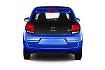 Straight rear view of a 2018 Citroen C1 Airscape Shine 5 Door Hatchback stock images
