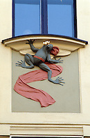Tschechien, Prag, Detail am Jugendstilhaus U Novaku, Unesco-Weltkulturerbe