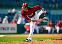 4 March 2010: Houston Astros pitcher Casey Daigle on the mound during the Astros' Grapefruit League Opening Day game against a Washington Nationals' split squad at Osceola County Stadium in Kissimmee, Florida. The Astros defeated the Nationals 15-5 in Spring Training action. Mandatory Credit: Ed Wolfstein Photo