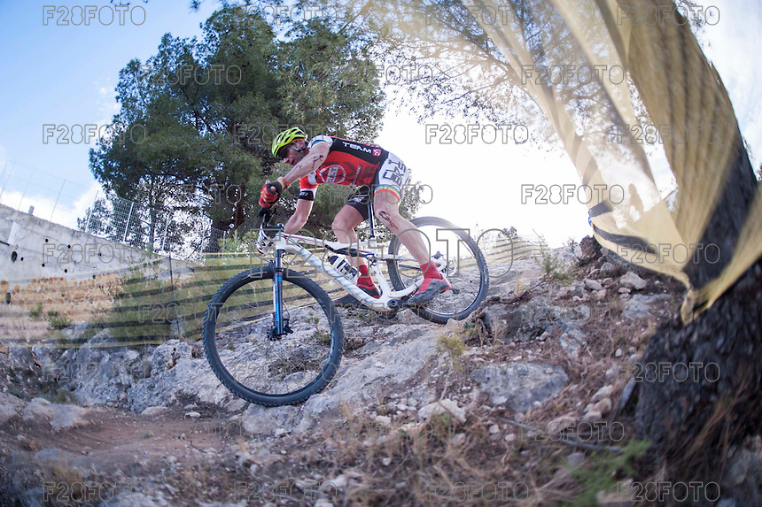 Chelva, SPAIN - MARCH 6: Cristobal Jover during Spanish Open BTT XCO on March 6, 2016 in Chelva, Spain