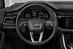 Car pictures of steering wheel view of a 2020 Audi Q7 Advanced 5 Door SUV Steering Wheel