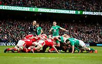 Saturday 8th February 2020 | Ireland vs Wales<br /> <br /> John Cooney during the 2020 6 Nations Championship   clash between Ireland and Wales at he Aviva Stadium, Lansdowne Road, Dublin, Ireland. Photo by John Dickson / DICKSONDIGITAL