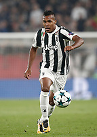 Football Soccer: UEFA Champions League Juventus vs Sporting Clube de Portugal, Allianz Stadium. Turin, Italy, October 18, 2017. <br /> Juventus' Alex Sandro in action during the Uefa Champions League football soccer match between Juventus and Sporting Clube de Portugal at Allianz Stadium in Turin, October 18, 2017.<br /> UPDATE IMAGES PRESS/Isabella Bonotto