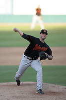 Trevor Hurley of the Bakersfield Blaze during game against the Lake Elsinore Storm at The Diamond in Lake Elsinore,California on July 25, 2010. Photo by Larry Goren/Four Seam Images