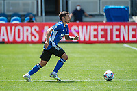 SAN JOSE, CA - APRIL 24: Eric Remedi #5 of the San Jose Earthquakes dribbles the ball during a game between FC Dallas and San Jose Earthquakes at PayPal Park on April 24, 2021 in San Jose, California.