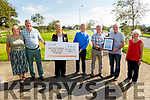 Austin Stack GAA Club receive the sum of €3,452 from their recent Billy Ryle fundraising walk.  L to r: Carmel and Martin O'Regan, Mairead Fernane, Neill Shanahan, Denis O'Regan, Billy Ryle and Liz O'Regan.