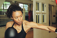 multi-ethnic woman in boxing workout..MR