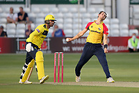 Jack Plom in bowling action for Essex during Essex Eagles vs Hampshire Hawks, Vitality Blast T20 Cricket at The Cloudfm County Ground on 11th June 2021