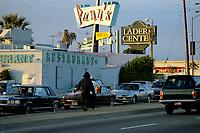 File Photo 1986 - street vendor in Los Angeles street