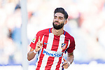 Yannick Ferreira Carrasco of Atletico de Madrid celebrates his score during the La Liga match between Atletico de Madrid vs Osasuna at the Estadio Vicente Calderon on 15 April 2017 in Madrid, Spain. Photo by Diego Gonzalez Souto / Power Sport Images
