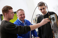 Pictured: Heating and airconditioning engineers course. Friday 26 September 2014<br />
