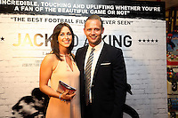 """Pictured: Lee Trundle (R). Sunday 14 September 2014<br /> Re: Film premiere of """"Jack To A King"""" depicting the recent history pf Swansea City Football Club, at the Odeon Cinema, Swansea, south Wales, UK."""