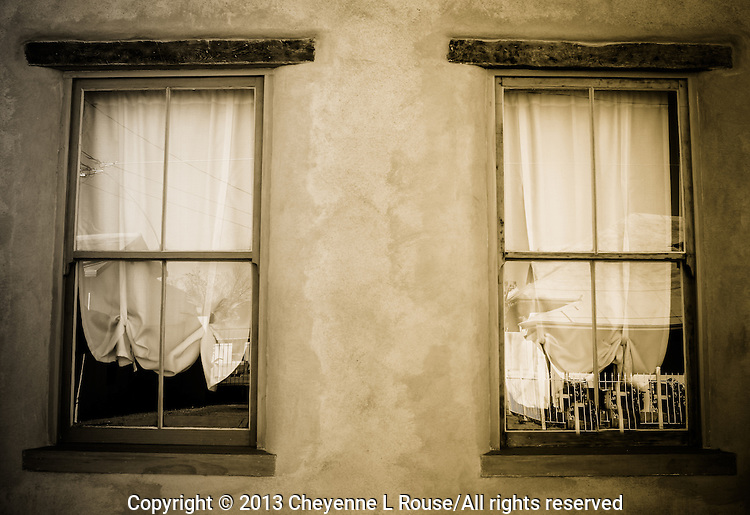 Double Adobe Windows - Sepia - Arizona