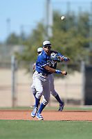 Kansas City Royals third baseman Wander Franco (37) during an instructional league game against the Seattle Mariners on October 2, 2013 at Surprise Stadium Training Complex in Surprise, Arizona.  (Mike Janes/Four Seam Images)