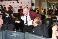 Al Murray<br /> on the trading floor for the BGC Charity Day 2016, Canary Wharf, London.<br /> <br /> <br /> ©Ash Knotek  D3152  12/09/2016