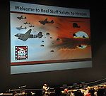"The ""Reel Stuff Salute to Heroes"" at the National Museum of the United States Air Force on Novemeber 8, 2014. Presented by Reel Stuff founder Ron Kaplan and featuring Donald ""Jake"" Jakeway, WWII paratrooper with the 82nd Airborne; Jon Tennyson, writer, producer and director of Sleeping Dog Productuions; Col. C.E. ""Bud"" Anderson, a Triple Ace with the 357th Fighter Group (WWII)  and Jame Miller of the 336th Assault Helicopter Company (Vietnam War)"