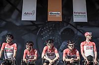 Team Lotto Soudal pre race team presentation<br /> <br /> 82nd La Flèche Wallonne 2018<br /> 1 Day Race: Seraing - Huy (198,5km)